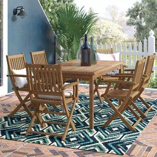 Elsmere 7 Piece Teak Dining Set by Beachcrest Home Best Design