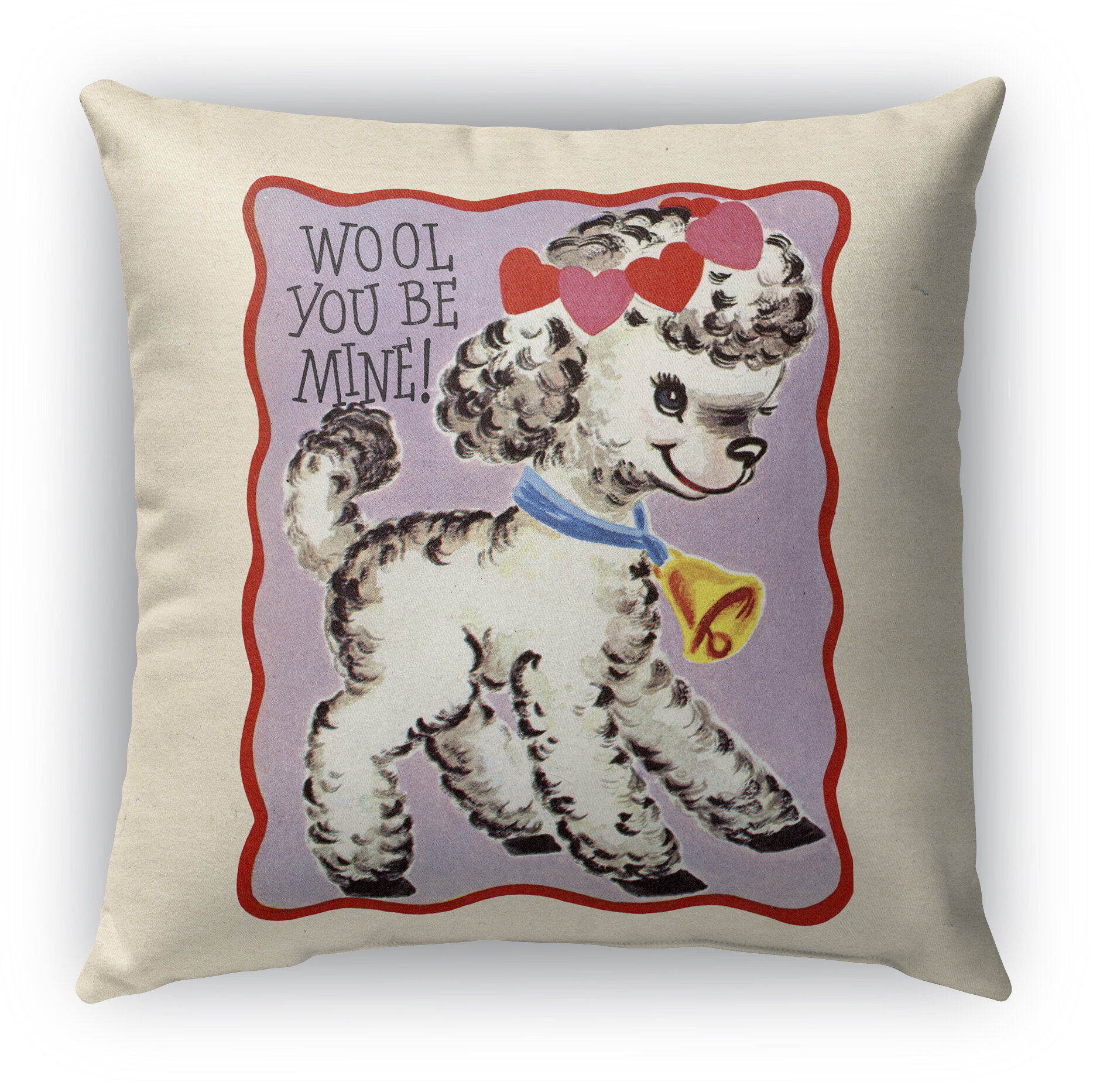 Kavka Wool You Be Mine Cotton Indoor Outdoor Throw Pillow Wayfair
