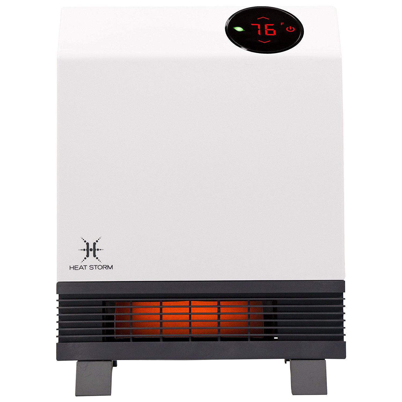 Heat Storm Wave 1 000 Watt Electric Infrared Wall Mounted Heater Reviews Wayfair