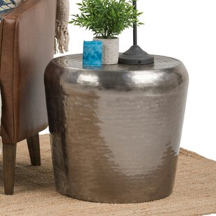 Celestina Metal End Table by World Menagerie