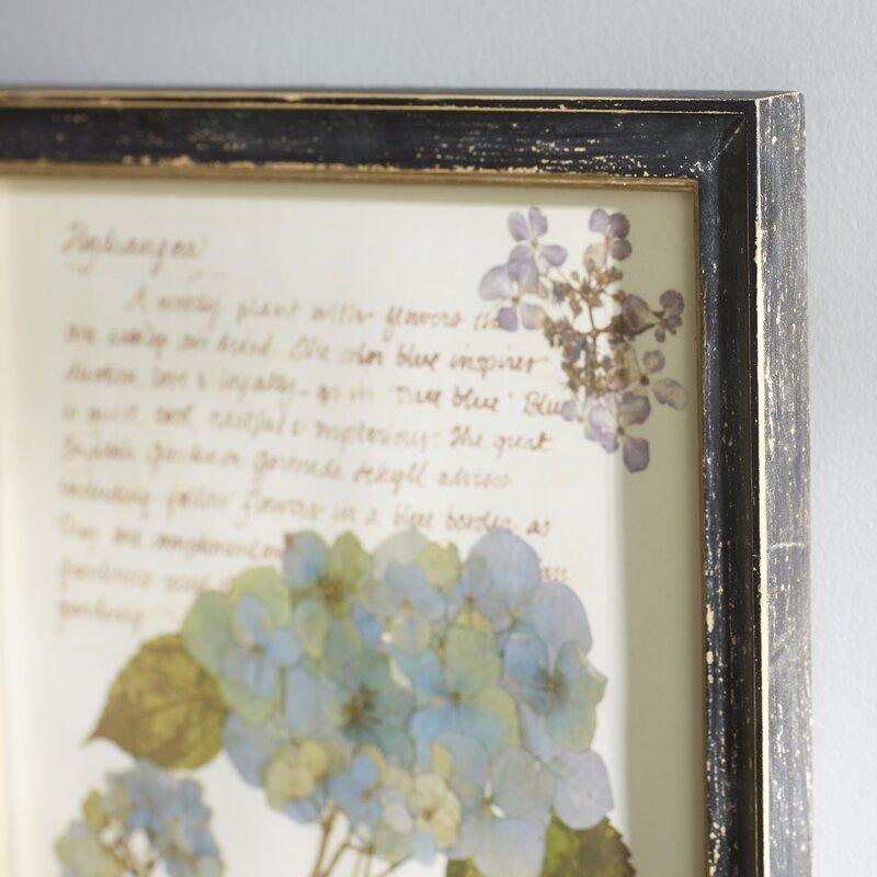 Pressed Flowers Framed Graphic Art Print & Reviews | Joss & Main