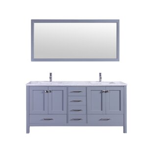 Arnab Transitional 72 Double Bathroom Vanity Set by Latitude Run