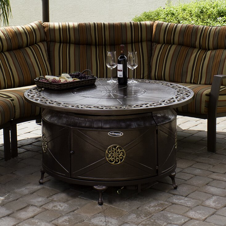 AZ Patio Heaters Aluminum Propane Fire Pit Table. Aluminum Propane Fire Pit  Table