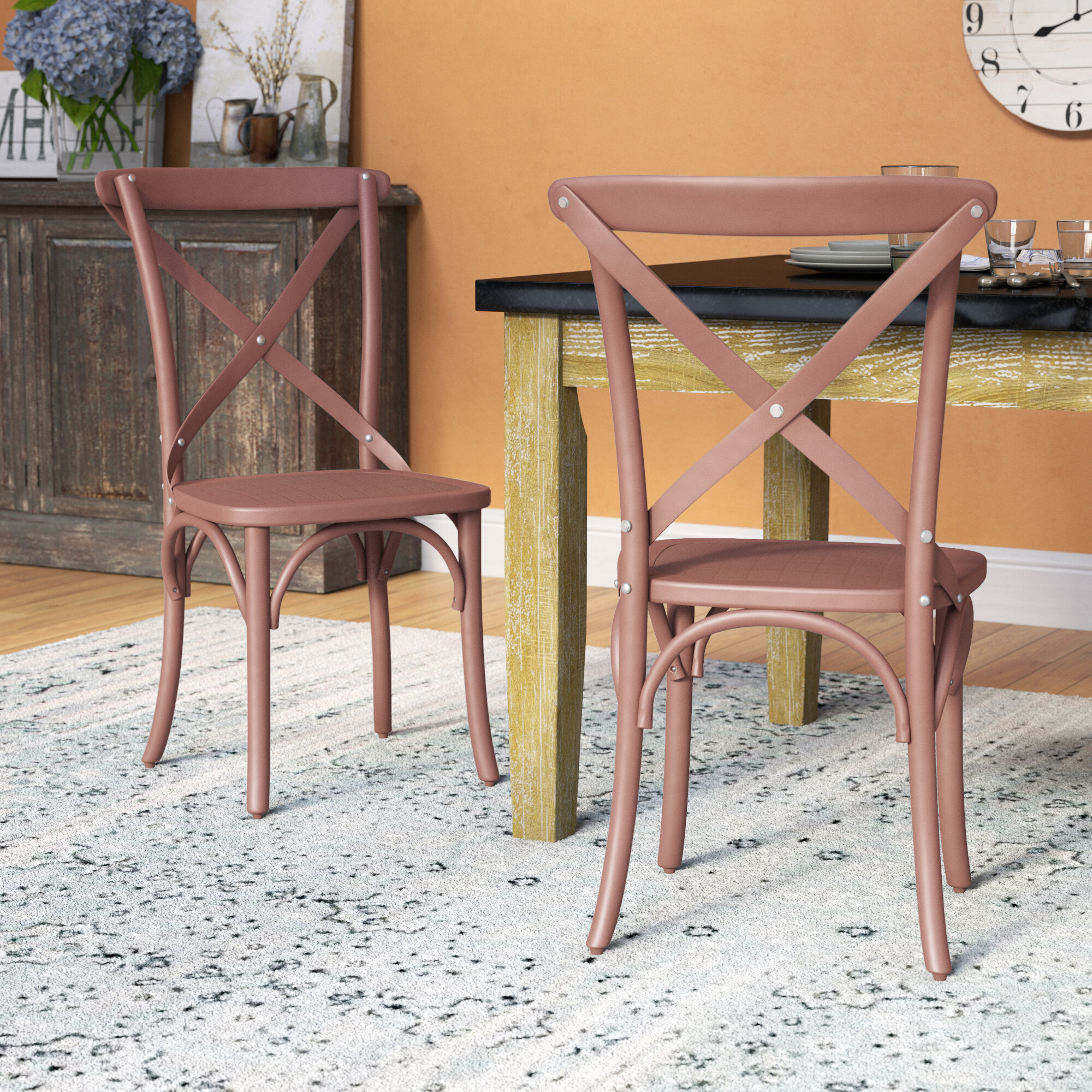 August Grove Abdallah Vintage Dining Chair Wayfair