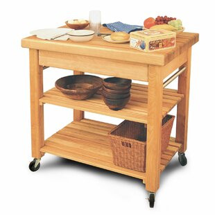 French Country Solid Wood Kitchen Cart by Catskill Craftsmen, Inc. Today Sale Only