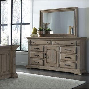 Pettit 8 Drawer Combo Dresser with Mirror by Gracie Oaks