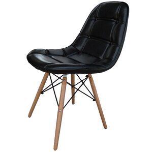 Neo Side Chair in Black/PU (Set of 2) by ..