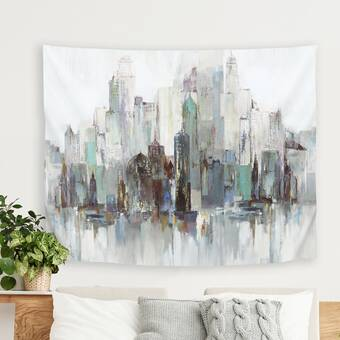 East Urban Home Pi Creative Art In The Forest I Tapestry Wayfair