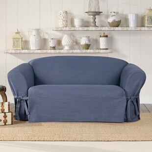 Authentic Box Cushion Loveseat Slipcover