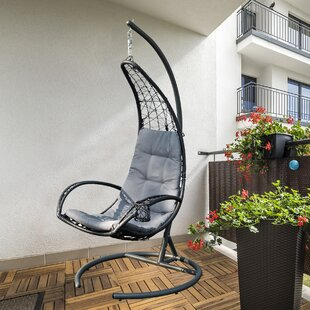 Leominster Hanging Basket Swing Chair with Stand by Freeport Park