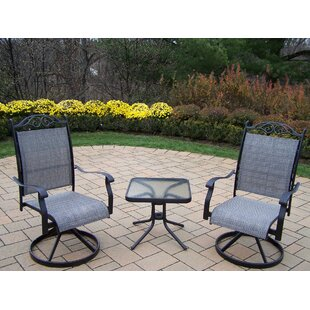 Basile 3 Piece Conversation Set Set by August Grove Cheap