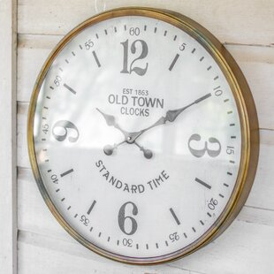 Find the perfect Oversized Oxalide Old Town Station 23.5 Wall Clock by Gracie Oaks