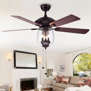 Ceiling fan with bright light wayfair rueben 5 blade ceiling fan aloadofball Images