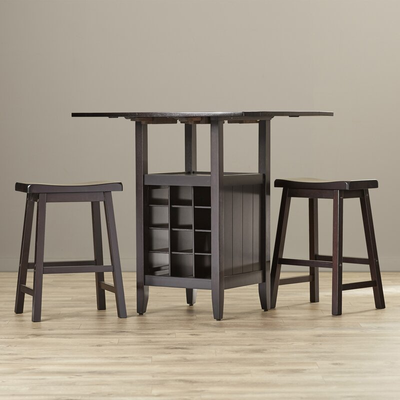 carisbrooke 3 piece pub table set in espresso - 3 Piece Pub Table Set