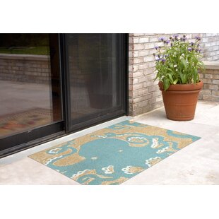 Zipporah Octopus Hand-Tufted Teal Blue Indoor/Outdoor Area Rug