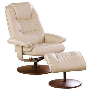 Fin City Manual Swivel Glider Recliner With Ottoman