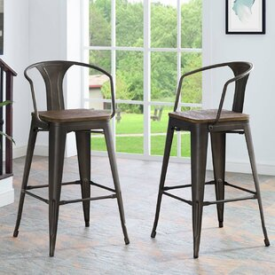 Ashlyn 30 Powder Coated Steel Bar Stool