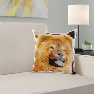 A Chow Chow Puppy Dog with Background Pillow Cover