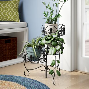 Ludgershall French Lily Design 3 Tiered Indoor Outdoor Plant Stand Set Of 2
