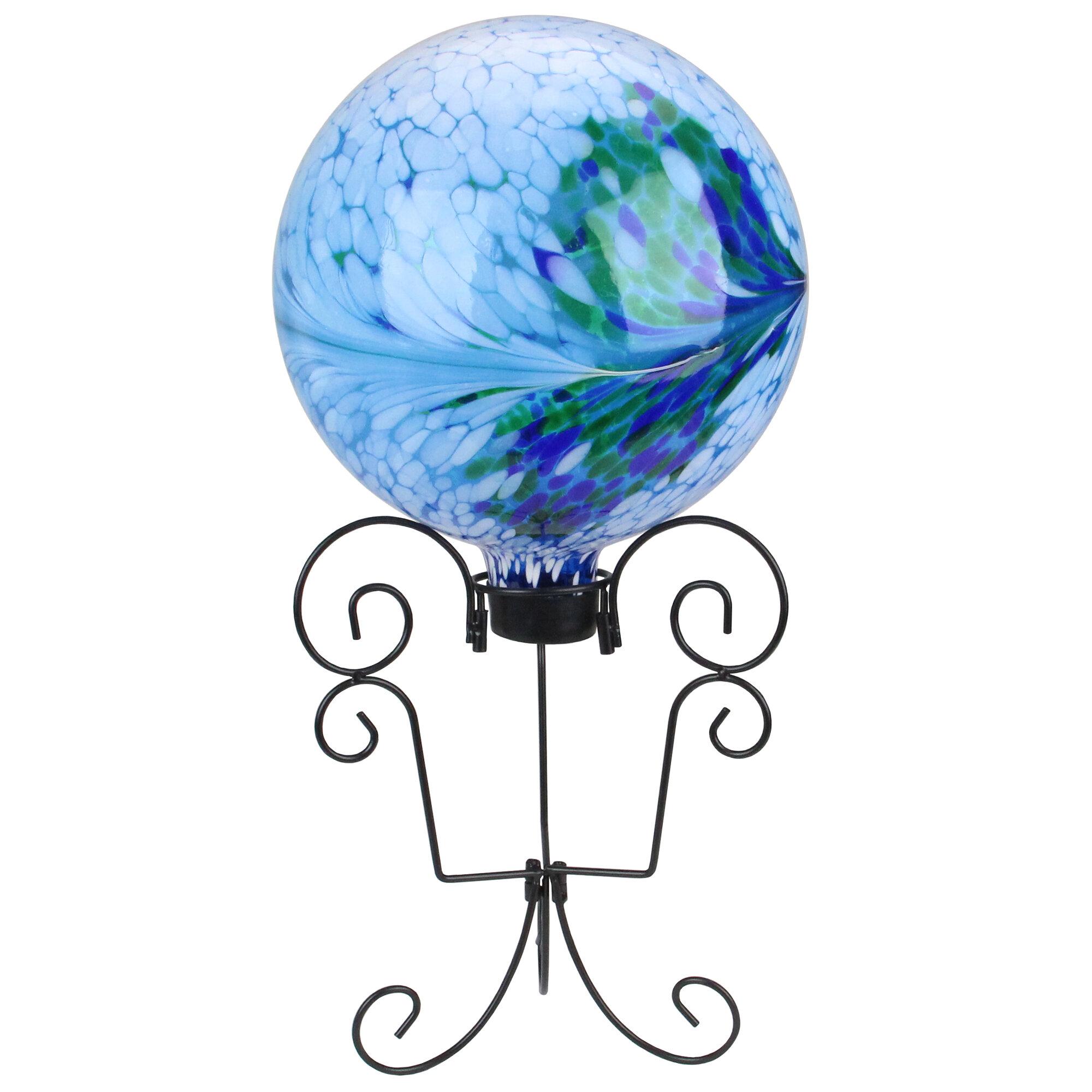 "Northlight 8.25/"" Black Scroll Outdoor Patio Stand for Garden Gazing Balls"