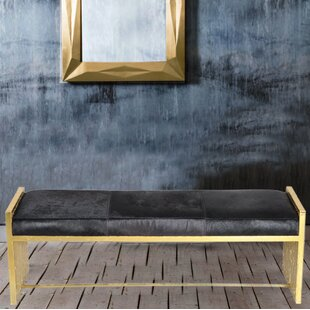 Leather Bench by Fashion N You by Horizon Interseas