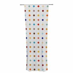Empire Ruhl Fall Digital Decorative Geometric Sheer Rod Pocket Curtain Panels (Set of 2)