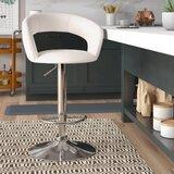 Evins Adjustable Height Swivel Bar Stool by Brayden Studio®