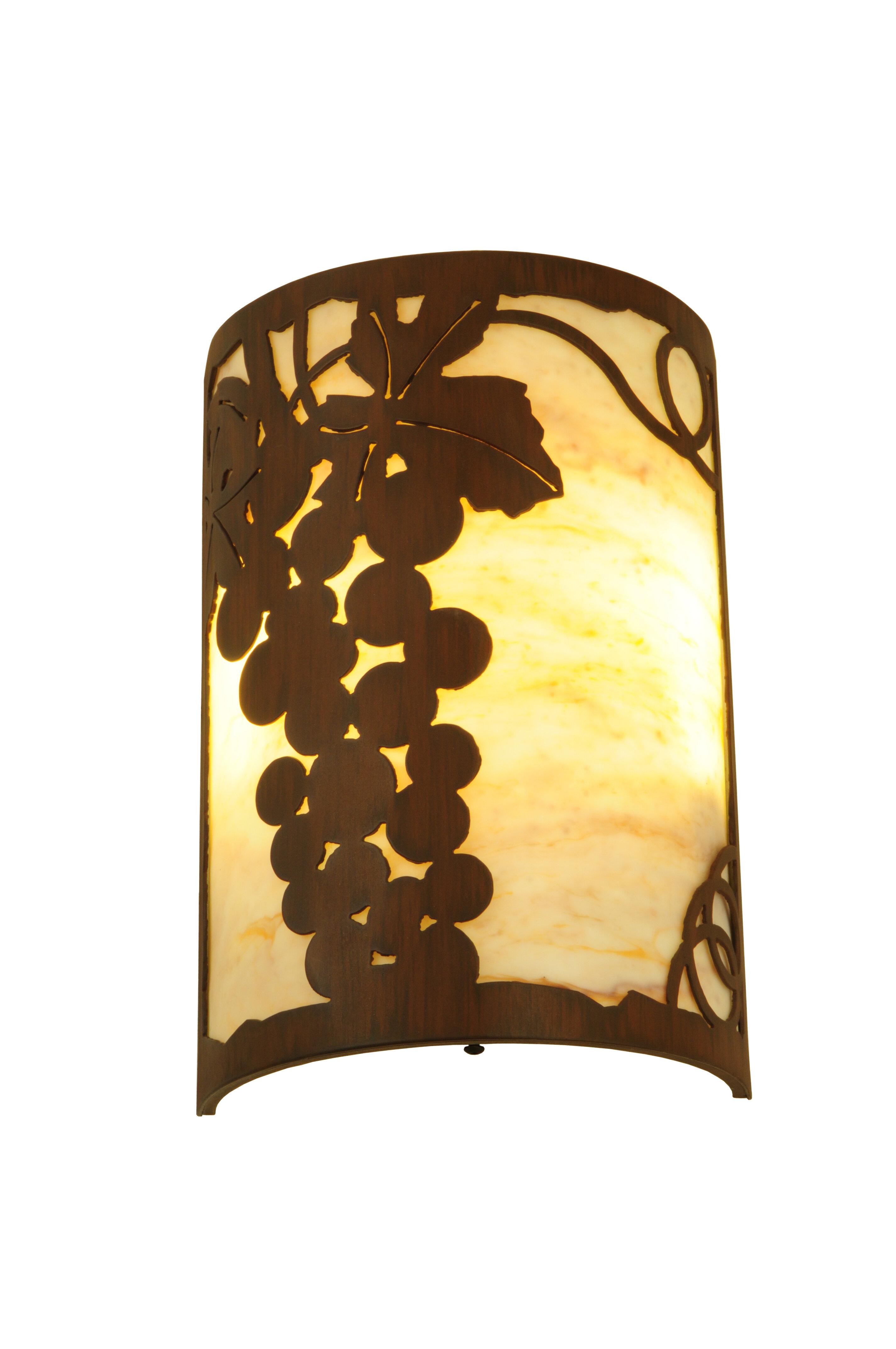 Meyda Tiffany 2-Light Grape Ivy Wall Sconce | Wayfair
