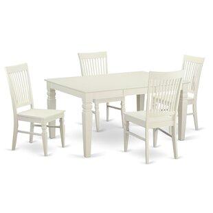 Pennington 5 Piece Solid Wood Dining Set