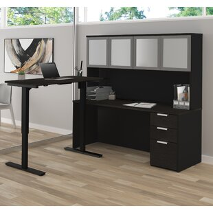 Kadian Reversible L-Shape Corner Desk With Hutch by Comm Office Top Reviews