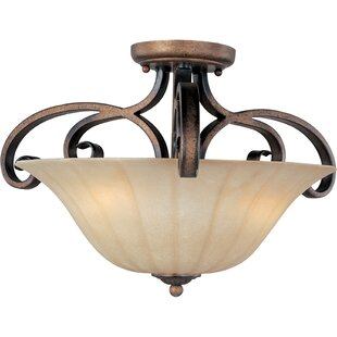 Deals Windle 3-Light Semi-Flush Mount By Fleur De Lis Living