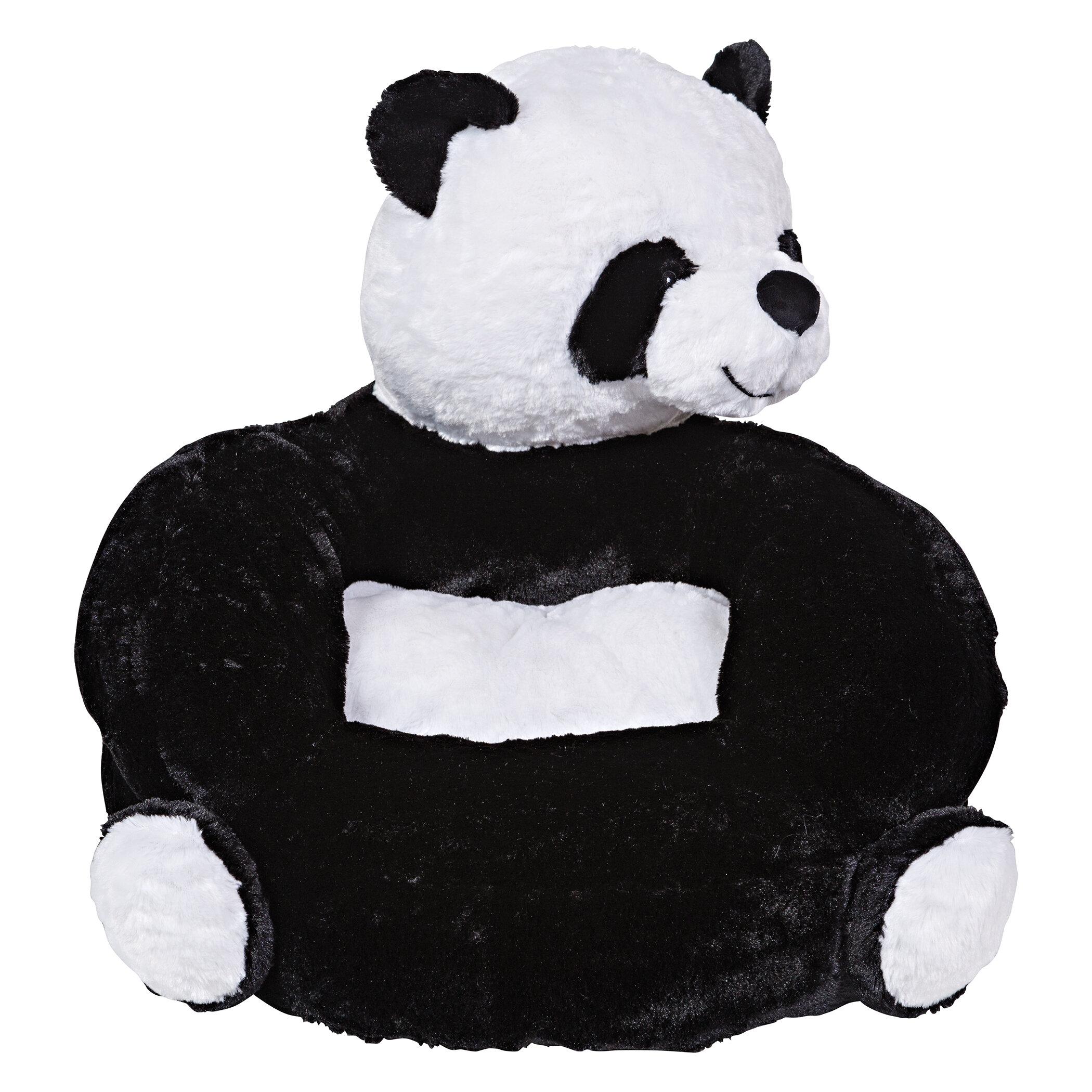 Merveilleux Trend Lab Plush Panda Character Kids Faux Fur Chair | Wayfair