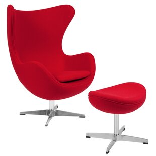 Red Chair And Ottoman | Wayfair