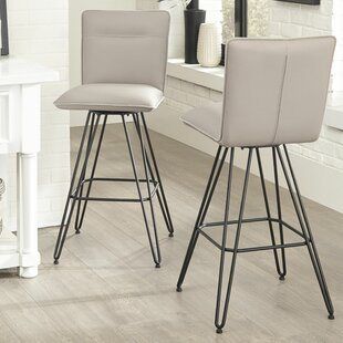 Greaney 29 Swivel Bar Stool (Set of 2) Williston Forge