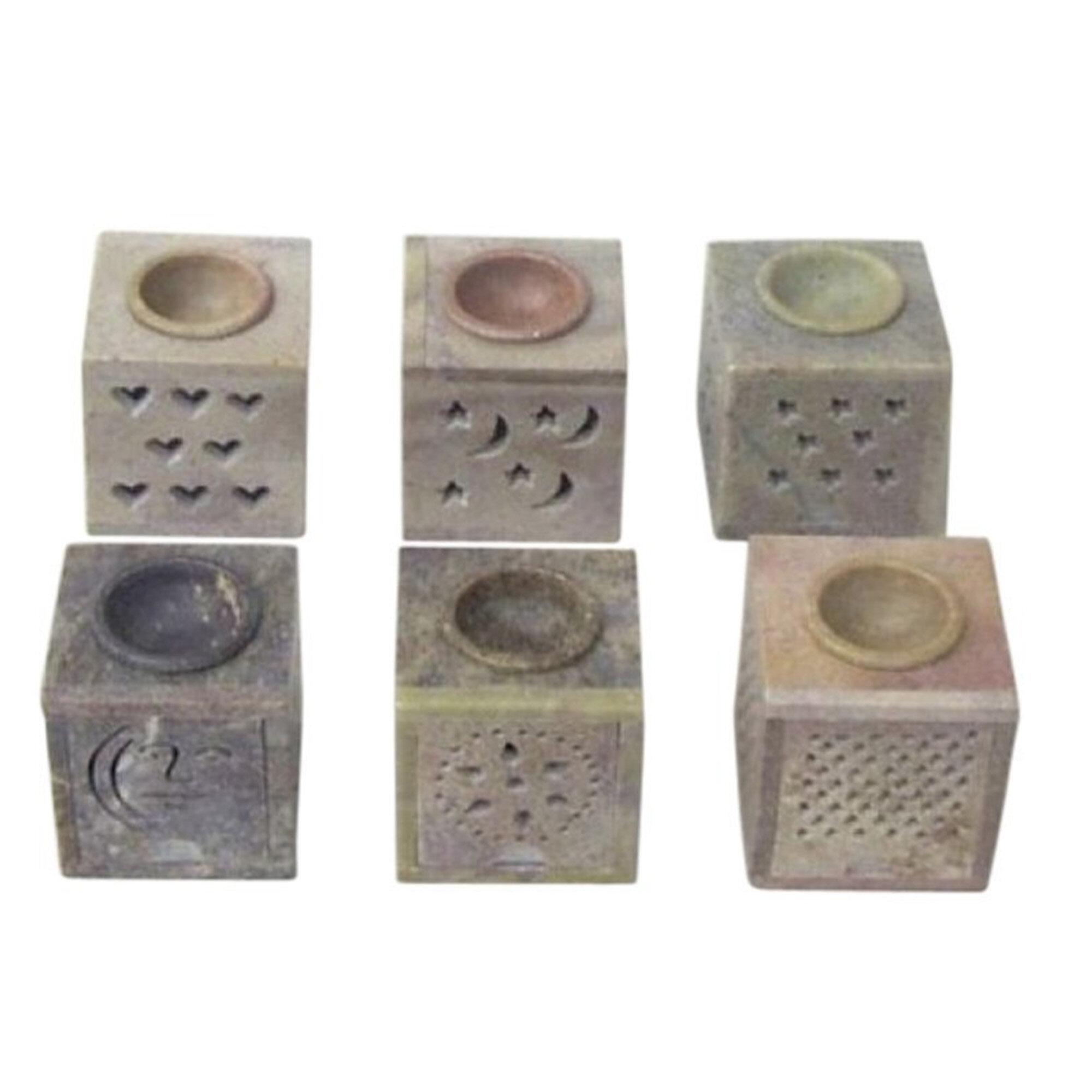 Bungalow Rose 6 Piece Soapstone Aroma Small Stone Tealight Holder Set Wayfair