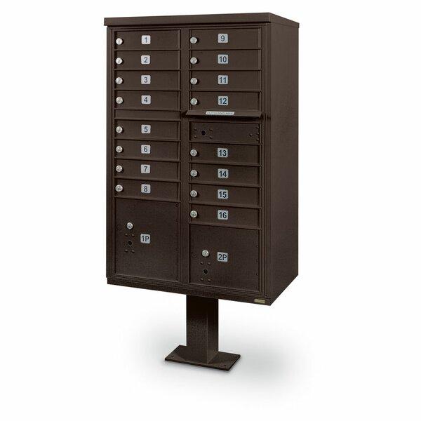 Postalproductsunlimitedinc 16 Door Front Load 4c Horizontal Multi Unit Mailbox With 2 Parcel Lockers Wayfair Ca