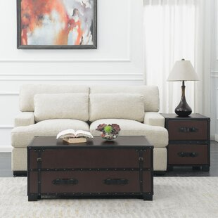 Elijah 2 Piece Coffee Table Set in Cherry