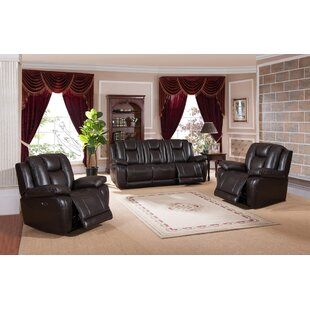 Mickey Reclining 3 Piece Living Room Set