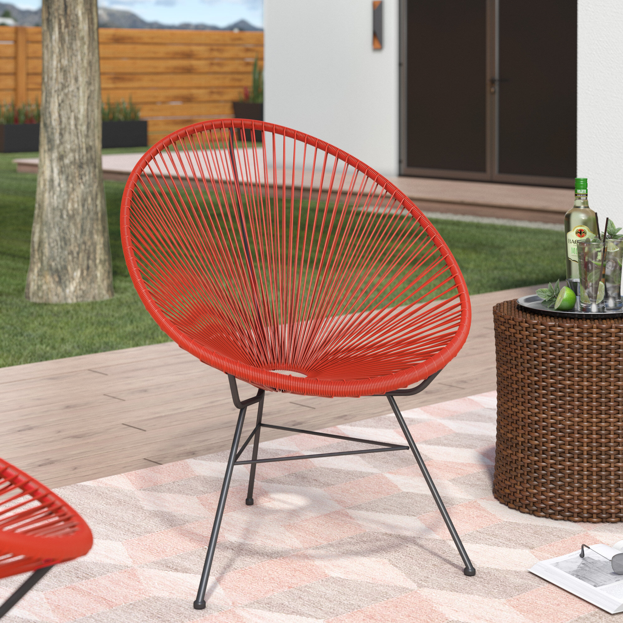 Wondrous Bradley Acapulco Papasan Outdoor Chair Camellatalisay Diy Chair Ideas Camellatalisaycom