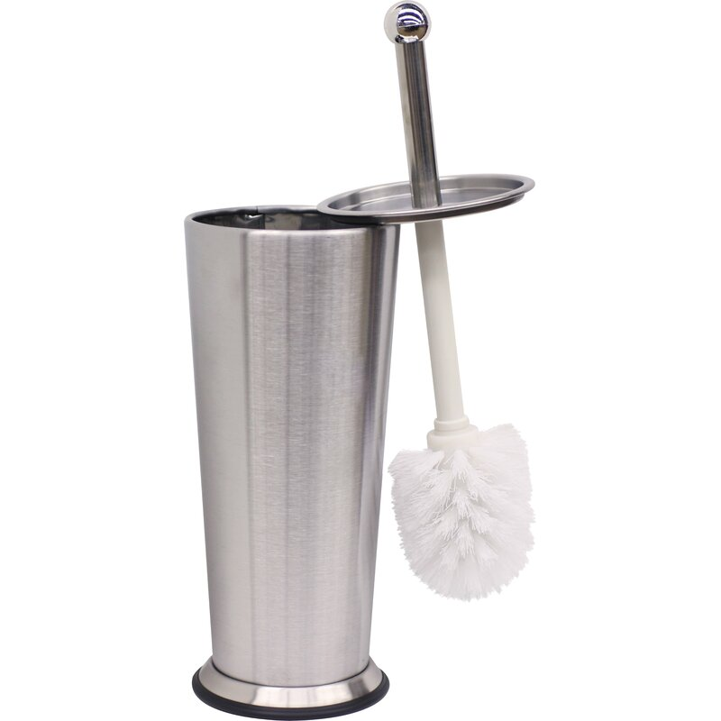 Symple Stuff Robby 15 5in H Free Standing Toilet Brush And Holder Reviews Wayfair