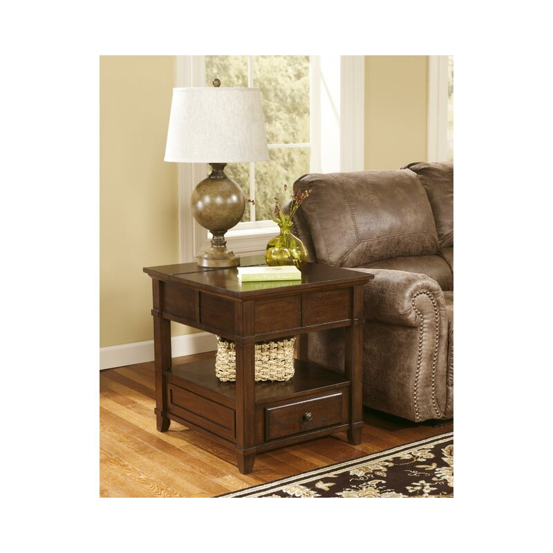 Signature Design By Ashley Gately End Table With Storage Reviews Wayfair
