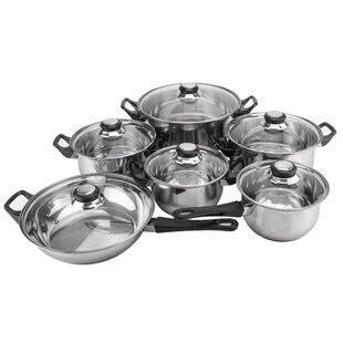 Monterrey 12 Piece Priminute Stainless Steel Cookware Set By Magefesa