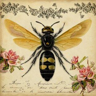 Honey Bee Canvas Print & Honey Bee Dinnerware   Wayfair