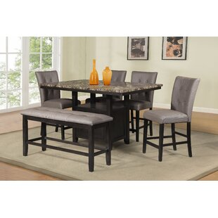 Thoma 6 Piece Counter Height Dining Set