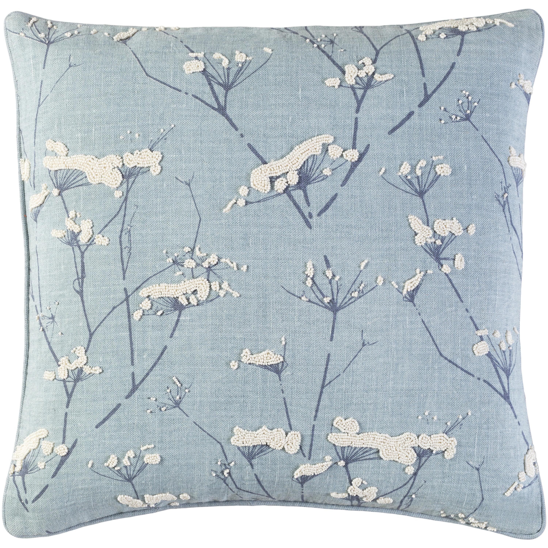 Surya Enchanted Linen Indoor Floral Pillow Cover Perigold