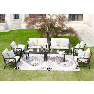 Renteria 10 Piece Sofa Seating Group with Cushions
