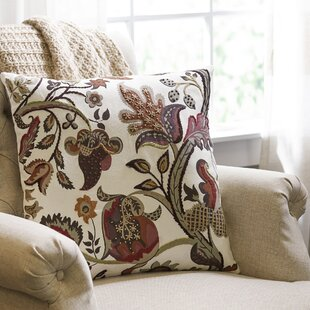 Finnigan Autumn Garden Embroidered Pillow Cover