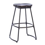 Moorehead Swivel Solid Wood 26'' Counter Stool (Set of 2) by 17 Stories