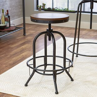 Calabro Adjustable Height Swivel Bar Stool by Williston Forge