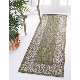 Finbar Power Loom Polypropylene Green Indoor/Outdoor Area Rug